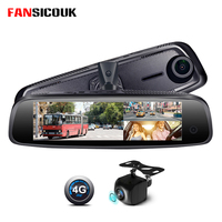 FANSICOUK 2G RAM+32G ROM With 3 Cameras Dash Camera ADAS 4G Android Car DVR Mirror Recorder FHD 1080P Rearview Mirror Camera
