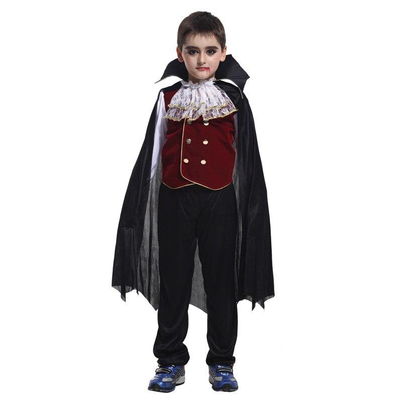 VASHEJIANG Niños Vampiro de Disfraces Para Niños de Halloween carnaval de Disfraces para Niños Niños Vampiro Cosplay Conjunto