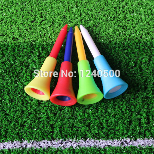 2017 New Golf Tools 500pcs 1 4/2 56mm Golf Tees Rubber Cushion Top Golf Equipment Muticolor