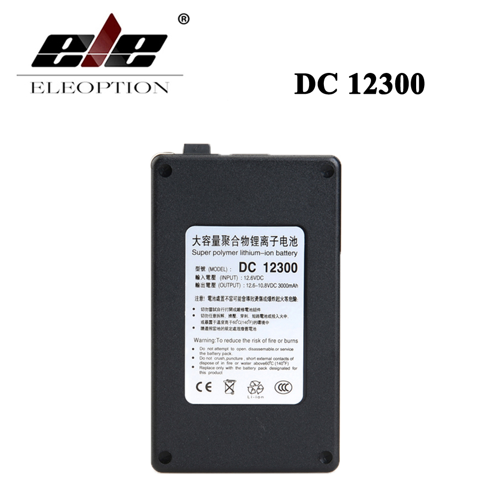 все цены на ELEOPTION DC 12V 3000mAh DC12300 Super Portable Rechargeable Lithium-ion Battery With Black Case онлайн