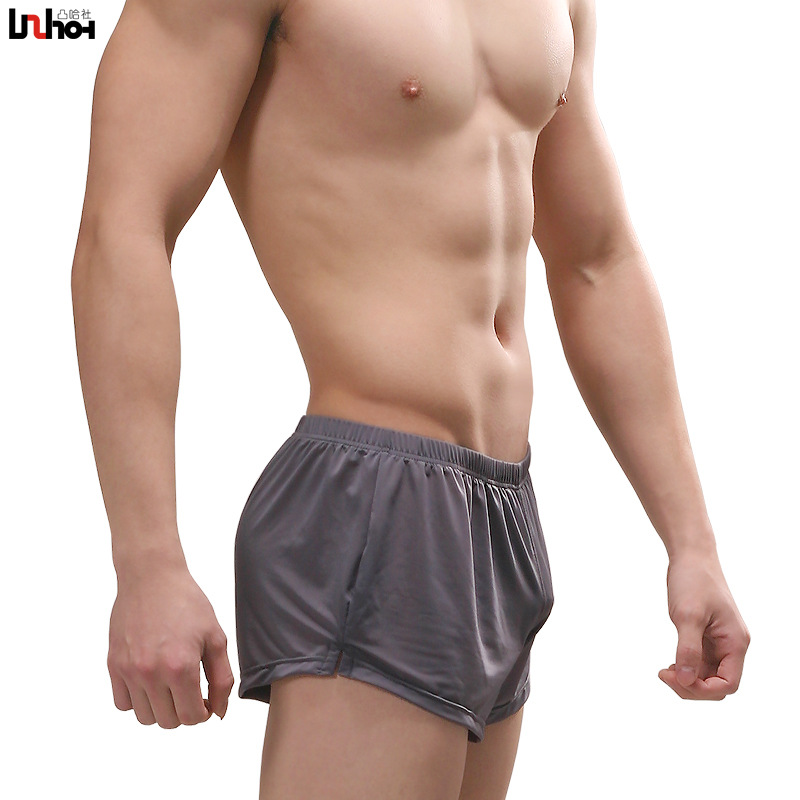 Sexy Men Underwear Ice Silk Boxer Shorts Cueca Masculina -5447