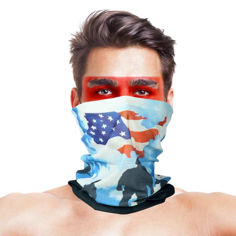 3D листья носовые платки с принтами Для женщин шарф полиэстер микрофибра шеи маска для лица бандана Для мужчин повязка-труба платок - Цвет: 047