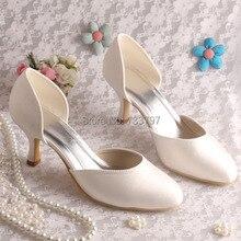 ( 20 цветов ) бежевый атласа 6.5 см пятки женщины туфли на высоком каблуке марки для свадьбы ну вечеринку обычная верхней