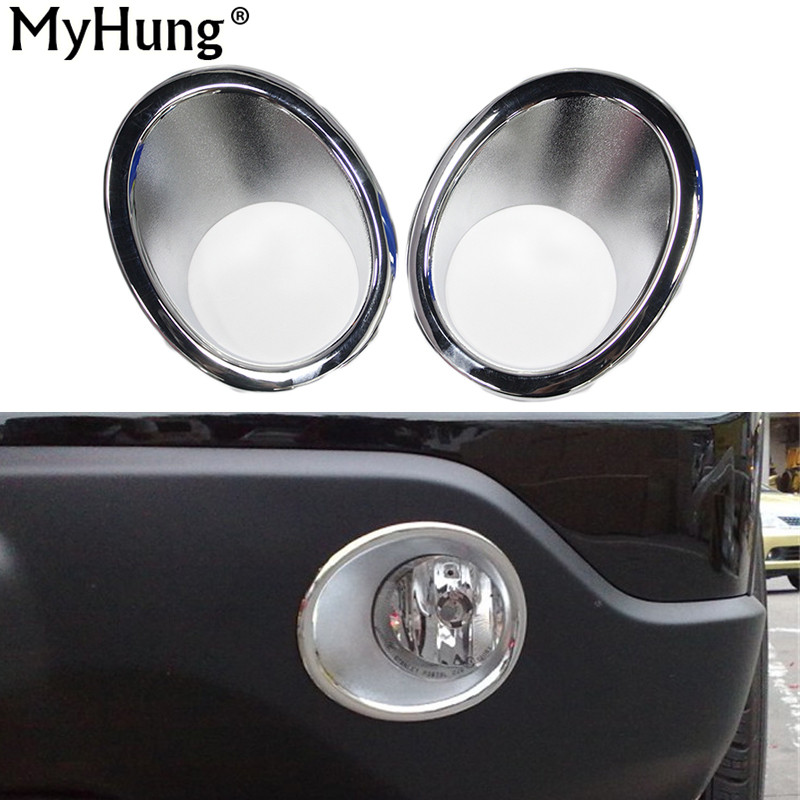 Car Auto Accessories Front Fog Light Cover Trim Head Fog Lamp Cover For Honda Crv Cr-V 2007 2008 2009 Abs Chrome 2pcs Per Set 2x led daytime running light with fog lamp cover for mercedes benz ml350 w164 2006 2007 2008 2009 automotive accessories