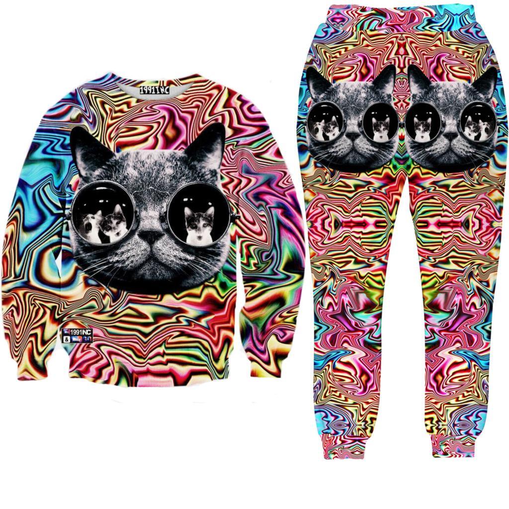 Tracksuits Sweatshirt and Pant 3D Kawaii Jogging Suits for Women Sport Suit Set Brand Fashion Tracksuit Unisex Sweat Suit Casual