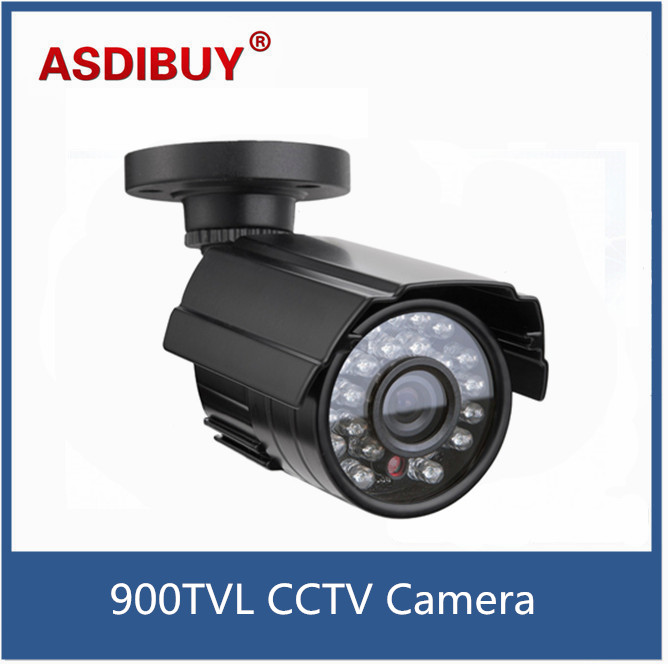 Waterproof 1/3 Color CMOS 900TVL Bullet Mini CCTV Camera Outdoor 24 IR Leds Day/Night Security Home Video Surveillance Camera 2015 newest cheapest freeshipping 6 array leds cctv camera cmos 700tvl plastic bullet hd mini monitoring security camera