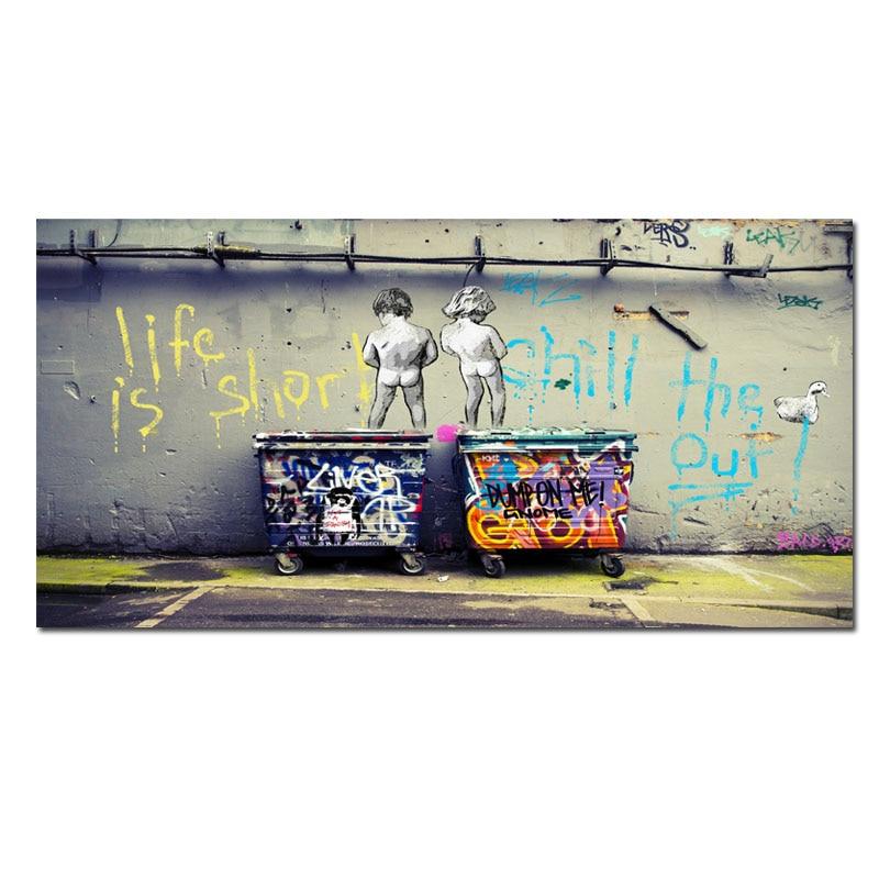 Tamaño grande Cartel de la pintada pintura de la lona del arte pop ...