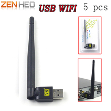 5 Pcs RT5370 USB 2.0 Wi-fi de Rede Sem Fio usb 802.11 b/g/n Antena LAN Adapter com Antena para PC Portátil Mini Wi-fi Dongle