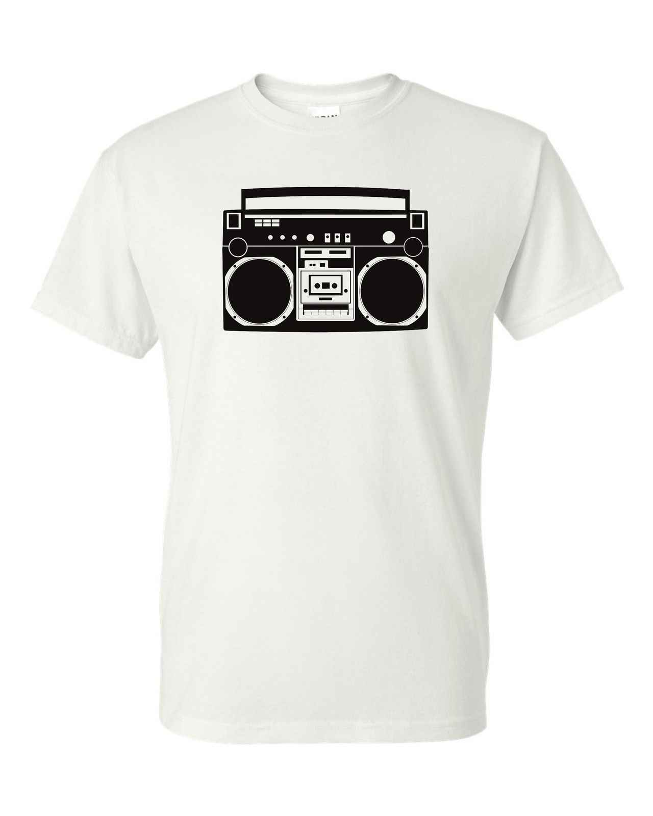 Boombox t-shirt rap hip hop radio tshirt Bboy Bgirl breakdance dance boom box summer o neck tee, cheap tee