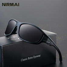 цена на NIRMAI  New  Black Polarized sports SunGlasses Men Sport Sunglasses UV400 Outdoor Driving Fishing Eyewear Fashion Goggles