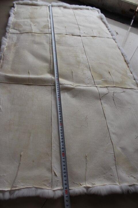 Plaque de lapin en fourrure/couverture lisse en peau de lapin rex/tapis de lapin rex peuvent être teints - 2