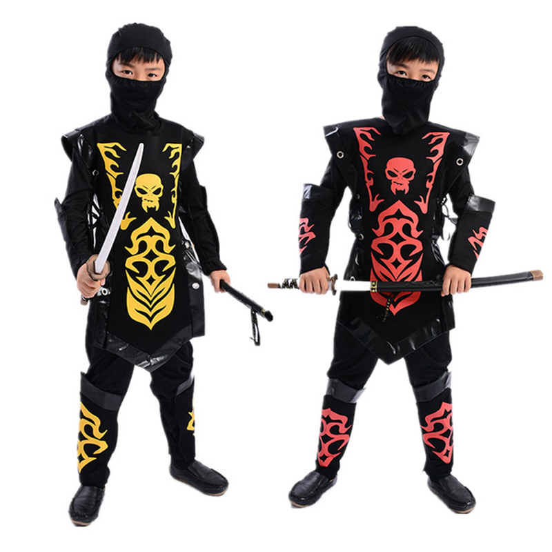 Halloween Cosplay Anime Japanese Ninja Costumes Clothes Clothing Children's Stage Performance Costumes Halloween Party For Boy