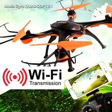 Начинающий 4CH 6 оси гироскопа Профессиональный Quadcopter с Камера Радиоуправляемый Дрон с Камера Wi-Fi Вертолет Пульт дистанционного Управления по телефону