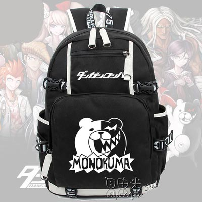 New Anime Danganronpa Backpack Cosplay monokuma Luminous Canvas Bag Schoolbag Dangan Ronpa Travel Bags anime tokyo ghoul dark in light luminous satchel backpack schoolbag shoulder bag boys gilrs cosplay gifts