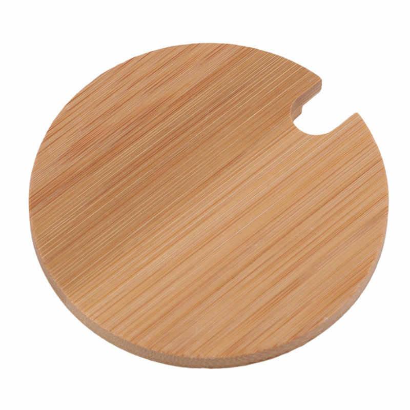 Mode Bamboe Cup Mokken Deksel Verschillende Maten Jar Ooden Deksel Cup Mok Cover Bamboe Koffiekopje Cover Voor Koffie Mokken keramische