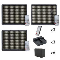 Aputure 2x HR672C + HR672S CRI 95+ LED Video Light Kit,  include 6pcs  NP-F970 battery + 3pcs Dual charger