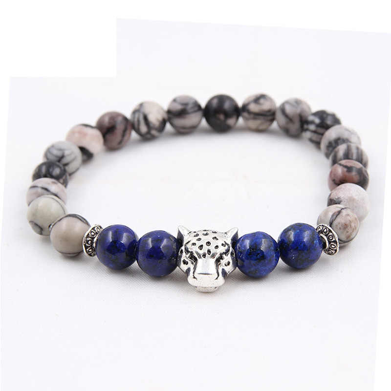 PUN lion men couple beads natural stone chakra bracelet for women best friend bracelet bijouterie jewelry female accessories