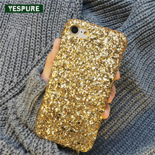 ФОТО YESPURE Bling Glitter Shining Red Coque Accessories for IPhone 7 6 6S  Soft Silicone Phone Cover Back for IPhone Capa