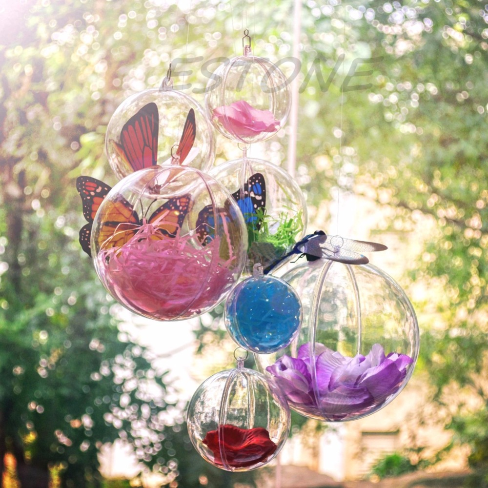 Clear acrylic fillable ornaments - Christmas Xmas Clear Fillable Candy Box Bauble Tree Ball Ornament Decor 4 12cm China