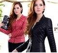 Fashion Slim Plus size Short Section PU Leather Jacket Jaquetas De CouroJaqueta feminina de couro casaco jaquetas colegial