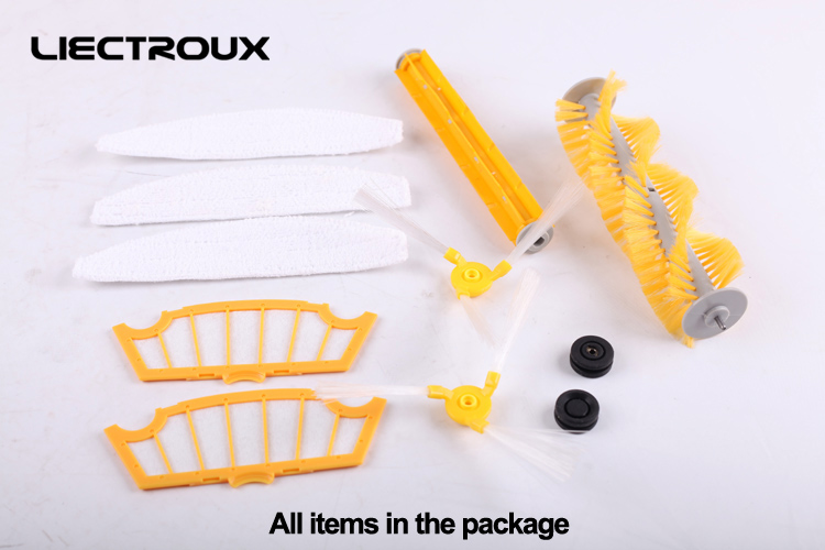 (For A320,A325,A335,A336,A337,A338)Accessories for Robot Vacuum Cleaner, Main Brush,Rubber Brush,Ring,Side Brush,HEPA Filter,Mop for cleaner a320 a325 a330 a335 a336 a337 a338 spare part for robot vacuum cleaner rubber brush side brush vacuum cleaner parts