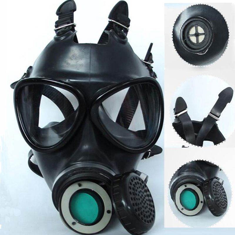 Image 5 - 5 In 1 Industry Paint Spray Black Military Soviet Army Respirator Gas mask Silicone Laboratory Respirator With Filter 40mm-in Chemical Respirators from Security & Protection