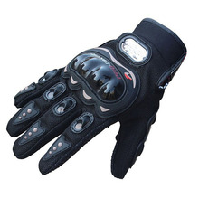 PRO BIKER 1Pair Rock Black Short Sports Leather Motorcycle Motorbike Summer Gloves