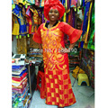 african bazin embroidery design dresses long dress with scarf 160cm length
