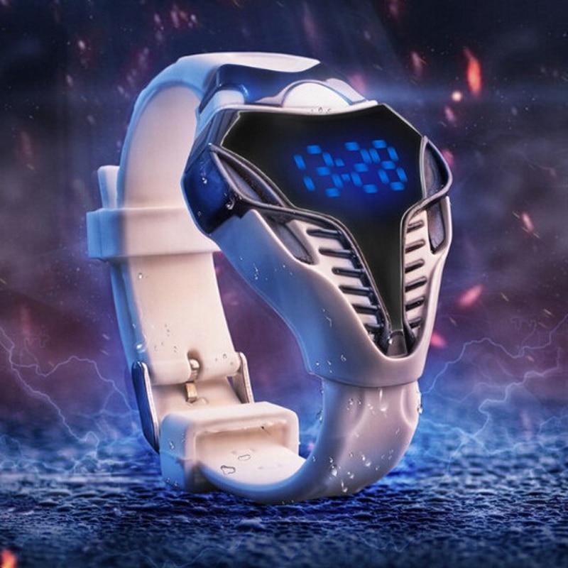 Brand New Watch férfiak kígyó alakú anamal dial szilikon sport - Férfi órák