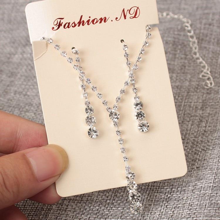 Ожерелье женское свадебное с кристаллами, 2 комплекта