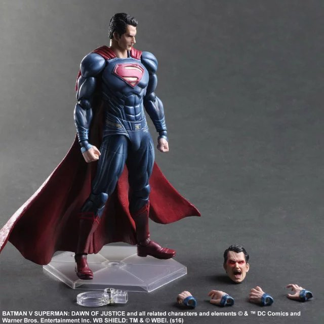 Superman Action Figure Play Arts Kai Dawn of Justice PVC Toys 270mm Anime Movie Model Batman v Superman Playarts Kai