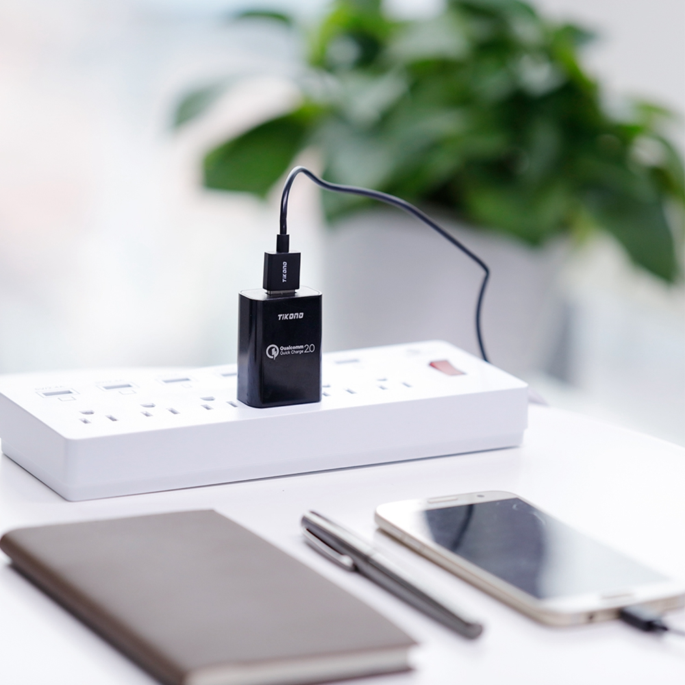 Tikono Telefon USB-laddare Quick Charge 2.0 USB Reseladapter Adapter - Reservdelar och tillbehör för mobiltelefoner - Foto 6