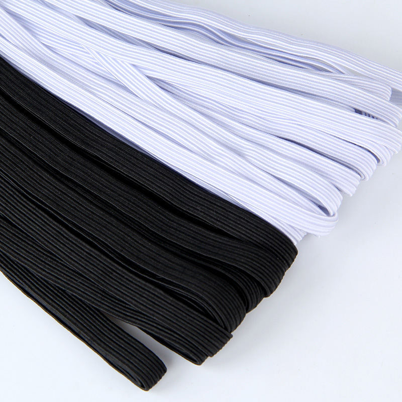 Thin Sewing Elastic Band Wide White Or Black High Elastic Flat