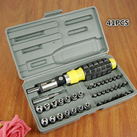 41PCS Combination Toolbox Precision Hand Tools Kit Practical Sockets Screwdrivers For Car Household Business Auto Repair