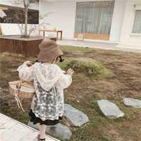 Princesse fille dentelle crème solaire manteaux Enfant bébé enfants à capuche crème solaire vêtements 2019 nouveau Beige blanc couleur enfants fée vêtements