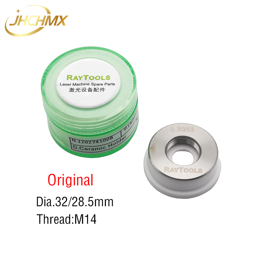 JHCHMX Original Raytools Laser Ceramic Ring Dia.32mm M14 Ptotective Windows 27.9*4.1mm For Raytools BT230/BT240/AK270 Laser Head