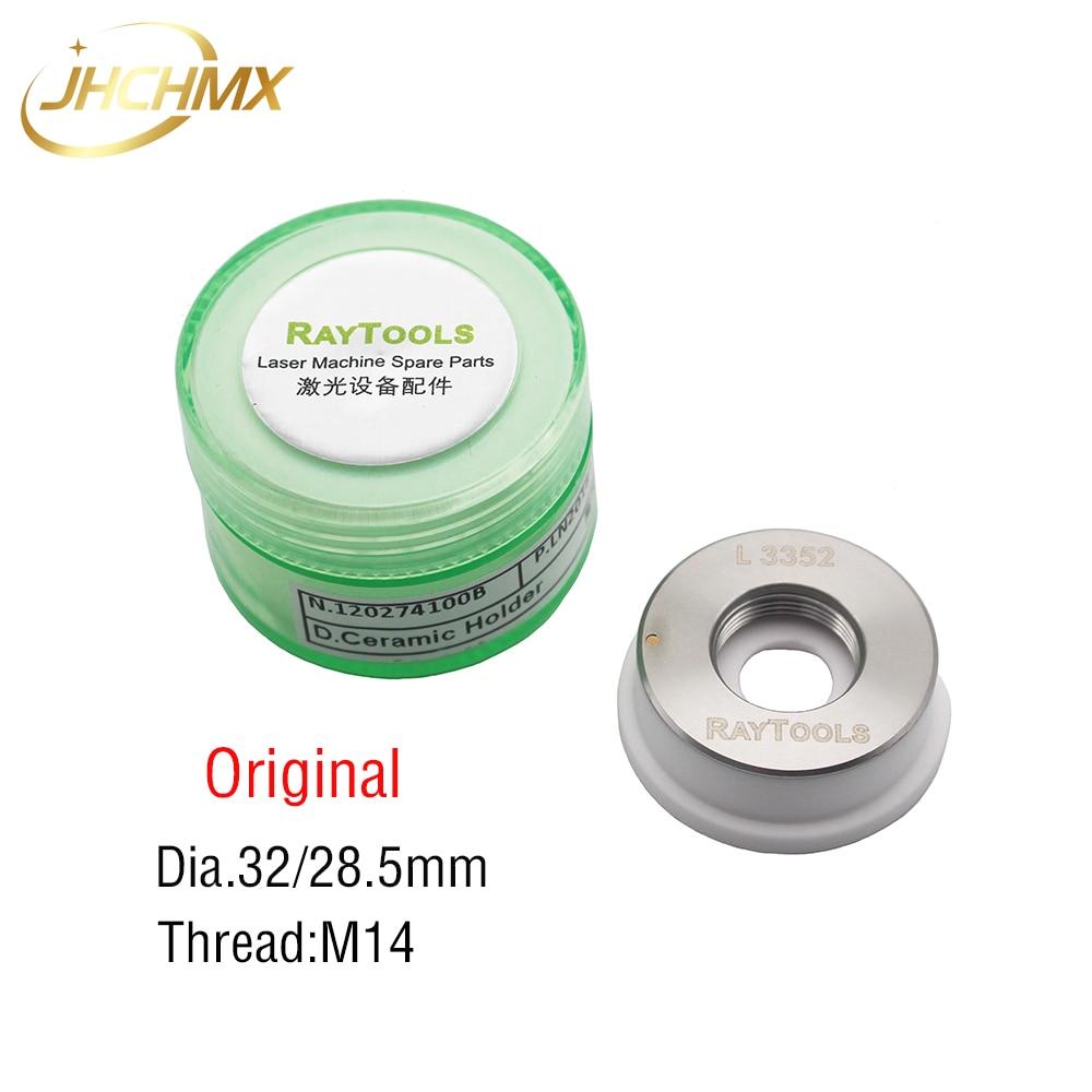 JHCHMX Original Raytools Laser Ceramic Ring Dia.32mm M14 Ptotective Windows 27.9*4.1mm For Raytools BT230/BT240/AK270 Laser Head