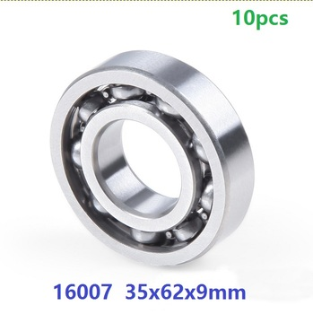 10pcs/lot bearing 16007 open type 35x62x9 mm Deep Groove Ball bearing 35*62*9mm Thin section high quality