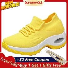 Krasovki Women Sneaker Fashion Big Size Vulcanize Shoes New Dropshipping Breathable Socks Casual Running