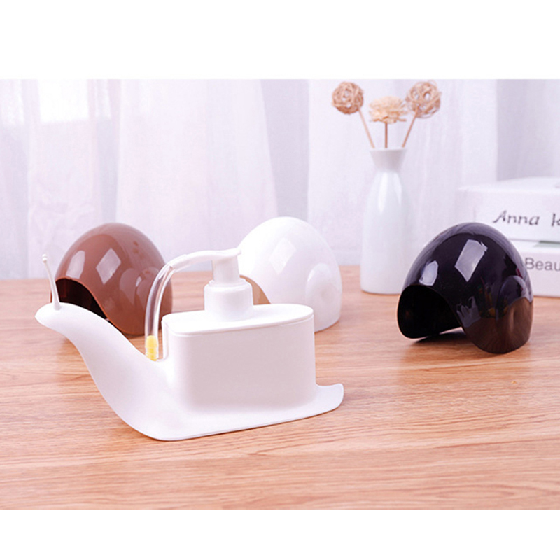 Snail Portable Soap Dispensers Creative Pressure Hand Home Bathroom Plastic Practical Liquid Shampoo Shower Gel Container