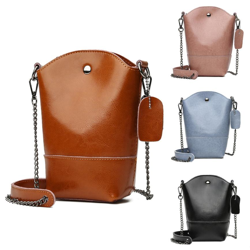 Molave Shoulder Bag new high quality Leather Girl Fashion Mini Bucket Hasp Crossbody Chains shoulder bag women AP2