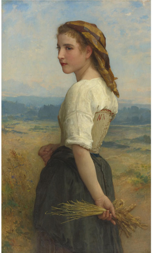 Gleaners oil painting reproduction of William-Adolphe Bouguereau Gleaners - on canvas and available in any size