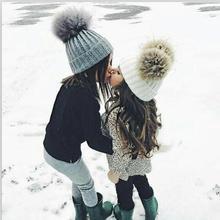 Recién Nacido lindo bebé de invierno sombrero para niños Pieles de animales  bola pompom Cap niños 3e726a3dd8e