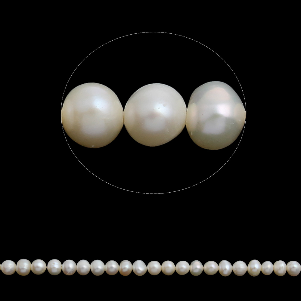 Potato Cultured Freshwater Pearl Beads,Designer Jewelry 2014, natural, white, 5-6mm, Hole:Approx 0.8mm, Approx 15.5 Inch Strand
