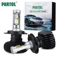 Partol 50W 8000LM H4 H13 H7 H11 9005 9006 LED Car Headlight Bulbs CREE Chips CSP
