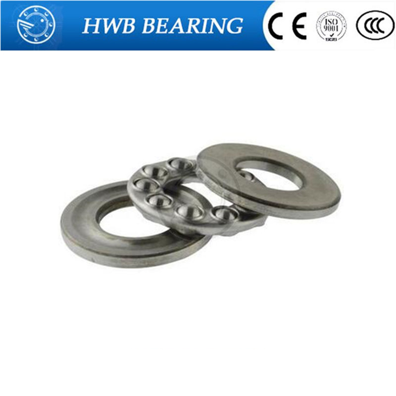 2Pcs 51108 Axial Ball Thrust Bearing 3-Parts 40mm x 60mm x 13mm Free shipping High Quality 51104 carbon steel axial ball thrust bearing 20x35x10mm