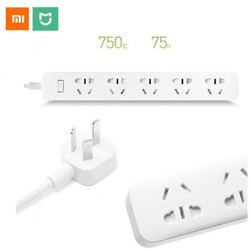 imágenes para Xiaomi mi 5 Tomas De Corriente Adaptador de Alimentación Eléctrica Enchufe Regleta De Alimentación Inteligente Inteligente Puerta de Seguridad Independiente con Alfombras Antideslizantes