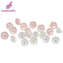 20 шт./лот 11,5 мм белый/розовый цветок смолы пуговицы DIY Швейные хвостовик кнопка для скрапбукинга детская одежда рубашка украшения E0406