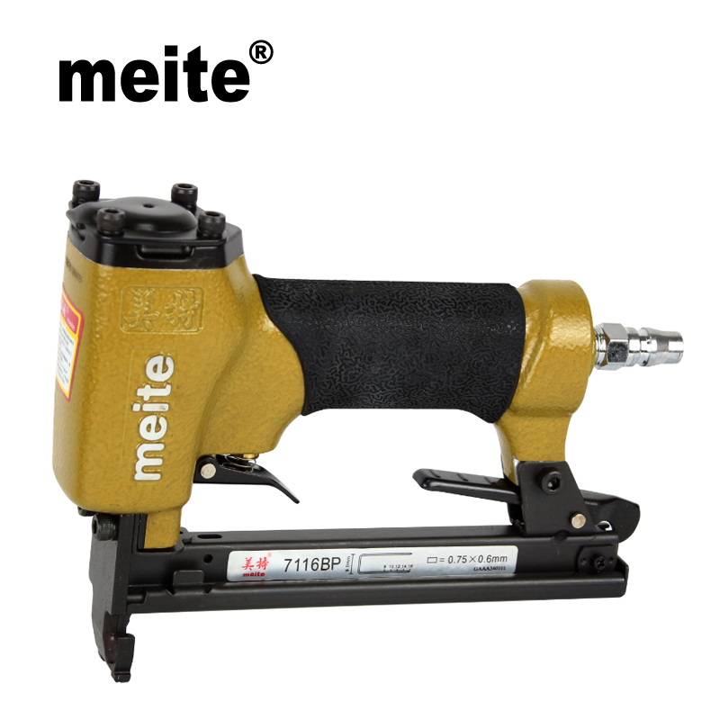 Meite 7116BP 22GA crown 9.0mm fine wire staple gun pneumatic fur-fixing stapler gun for fixing fur and feather Dec.18 Update