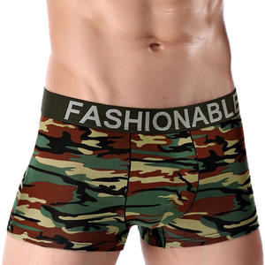 Underwear Boxer Shorts Knickers Trunks Soft Mens Sexy Men's Camouflage Cueca Fashion